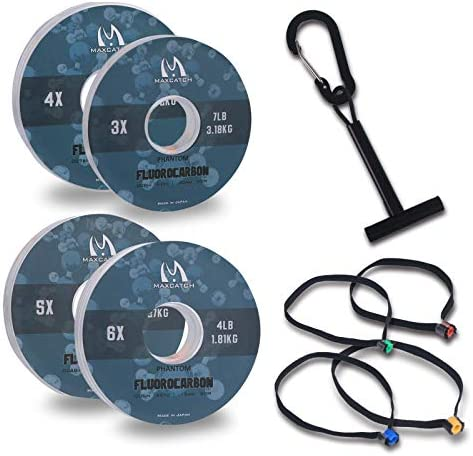 M MAXIMUMCATCH Maxcatch Fluorocarbon Leader Tippet Line for Fly Fishing with Tippet Line Holder product image