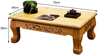 Tatami Small Coffee Table Solid Wood Coffee Table Antique Chinese Tea Table Modern Simple Coffee Table Hand-Carved Square Table Small Coffee Table Table Kang Table