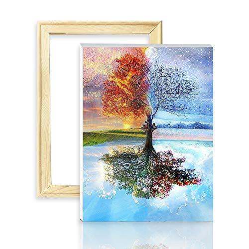 decalmile Pintura por Número de Kits DIY Pintura al óleo p