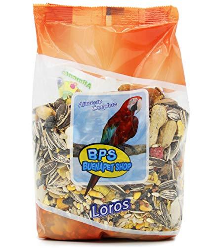 BPS Pienso Loros Alimento Completo Papagayo con Formula Alta Energía Material Natural 400g/600g/Pack para Elegir (Snack) BPS-4028
