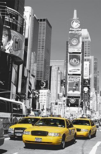 1art1 New York - Times Square, Gelbes Taxi Fototapete Poster-Tapete 175 x 115 cm