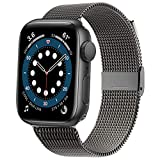 Swhatty Compatible for Apple Watch Band 38mm 40mm 42mm 44mm, Stainless Steel...