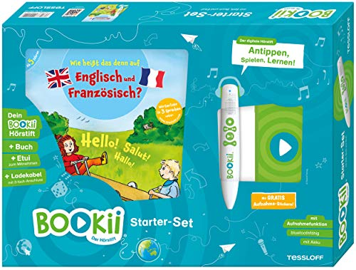 BOOKii StarterSet Wie heißt das denn auf Englisch und Französisch Hörstift mit Aufnahmefunktion Buch Wie heißt das denn auf Englisch und Französisch?