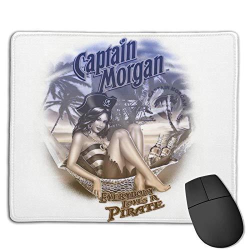 Capitán Morgan Alfombrilla Raton Ordenador Antideslizante Gaming Mouse Pad Cómodo Alfombrilla De R
