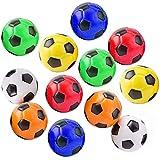"Akusety Mini Sports Stress Balls Soccer Balls Fun, 12-Pack Foam Ball 2.5"" Relaxable Stress Relief Squeeze Balls"