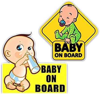 Baby on Board Sign Sticker Reflective Vehicle Car Signs Kids Safety Warning Sticker for Driver product image