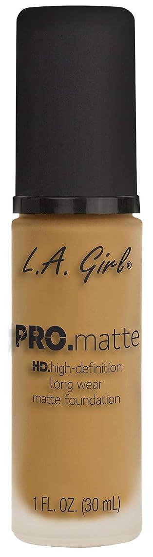 ぎこちない床業界L.A. GIRL Pro Matte Foundation - Soft Beige (並行輸入品)