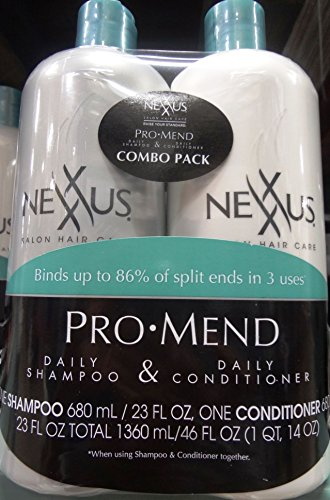 Nexxus Salon Hair Care Pro Mend 23Fl OZ Daily Shampoo & 23Fl OZ Daily Conditioner