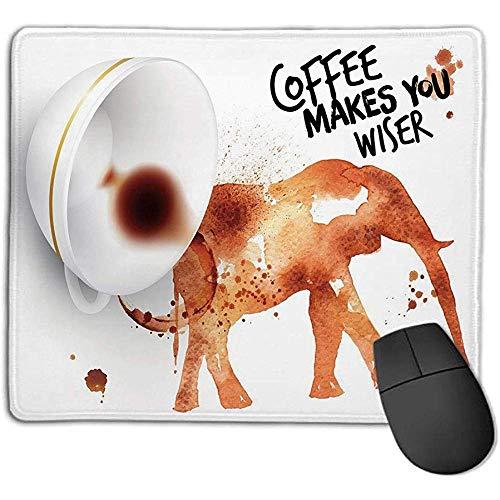 Kaffeekunst,Kaffee trinken und weiseres Konzept mit Elefanten-Espresso-Flecken,gebrannter Sienna Black White,Konsolen Genießen Sie präzises glattes O 30X25CM