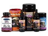 Robert Franz - Vitamin D3-Tropfen (50 ml), Vitamin K2-Tropfen (50 ml), Acerola (175 g), MSM-Kapseln (360 Stück), B12-Pastillen (100 Pastillen) und Ayursana OPC (120 Stück)