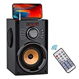 Portable Bluetooth Speakers with Subwoofer Rich Bass Wireless Stereo Outdoor Speaker Support Remote Control FM Radio TF Card LED Lights MP3 Player Powerful Speaker for Home Party iPhone Computer PC