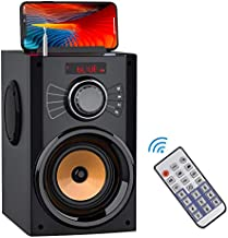 Portable Bluetooth Speaker with Subwoofer Wireless Speakers Outdoor/Indoor Big Speaker Support Remote Control FM Radio TF Card LED Lights MP3 Player Party Speaker for Home Camping iPhone Computer PC