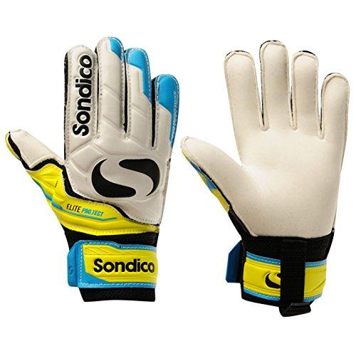 Sondico Unisex Elite Protect Torwart Handschuhe Weiß/gelb UK 6
