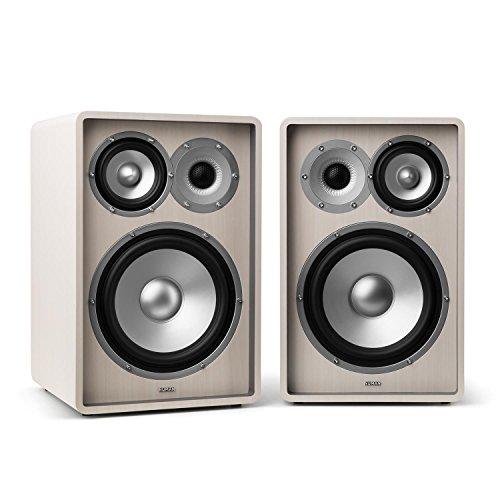 """NUMAN Retrospective 1978 MKII - Regallautsprecher, Lautsprecher-Boxen, HiFi-Boxen, 3-Wege-Lautsprecher, 20 cm (8\"""")-Tieftöner, 10 cm (4\"""")-Mitteltöner, 160 W max. je Box, 4 Ohm, weiß"""