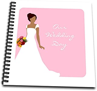 3dRose db_165870_1 Our Wedding Day-African American Bride Pink-Drawing Book, 8 by 8-Inch