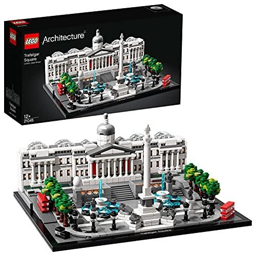 LEGO 21045 Architecture Trafalgar Square Set de Construcción, Modelo de Coleccionista, Maqueta Decorativa para Niños 12 años
