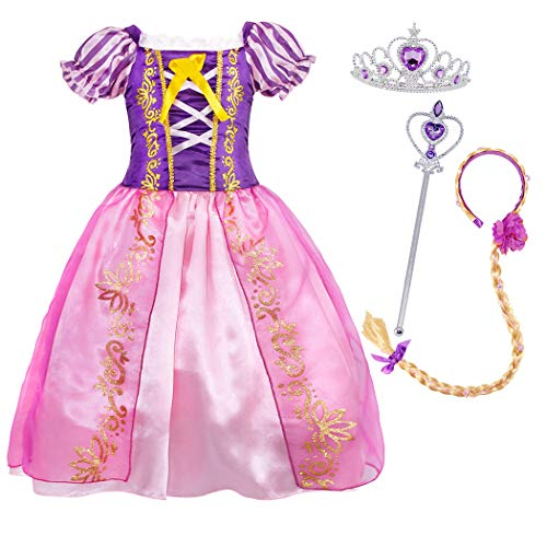 Cotrio Little Girls Princess Costume Dress Up Fancy Party Dresses Halloween Outfit Clothes with...