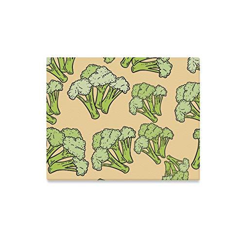 LONGYUU Günstige Wandfarbe Smaragdgrüner Brokkoli Frische Moderne Wandkunst Leinwand Dekorative Küche Wandkunst Druck Dekor für Zuhause 20x16 Zoll