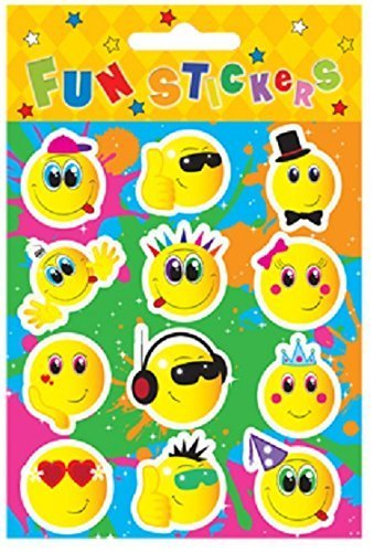 HENBRANDT 24 Sheets of 12 SMILEY FACE STICKERS
