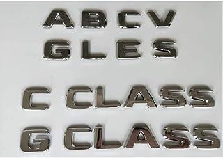 用に変更尾 に適しています メルセデスベンツAMG A B C E G M S GLA GLB GLC GLE GLS CLA CLS CL SL SLC ML V GL SLK CLK GLK CLASS、クロム手紙エンブレムバッジのために ...