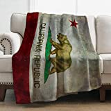 Levens California Flag Blanket Print Soft Throw Blanket Cozy Lightweight Bed Couch Blanket for Kids Adult 50'x60'