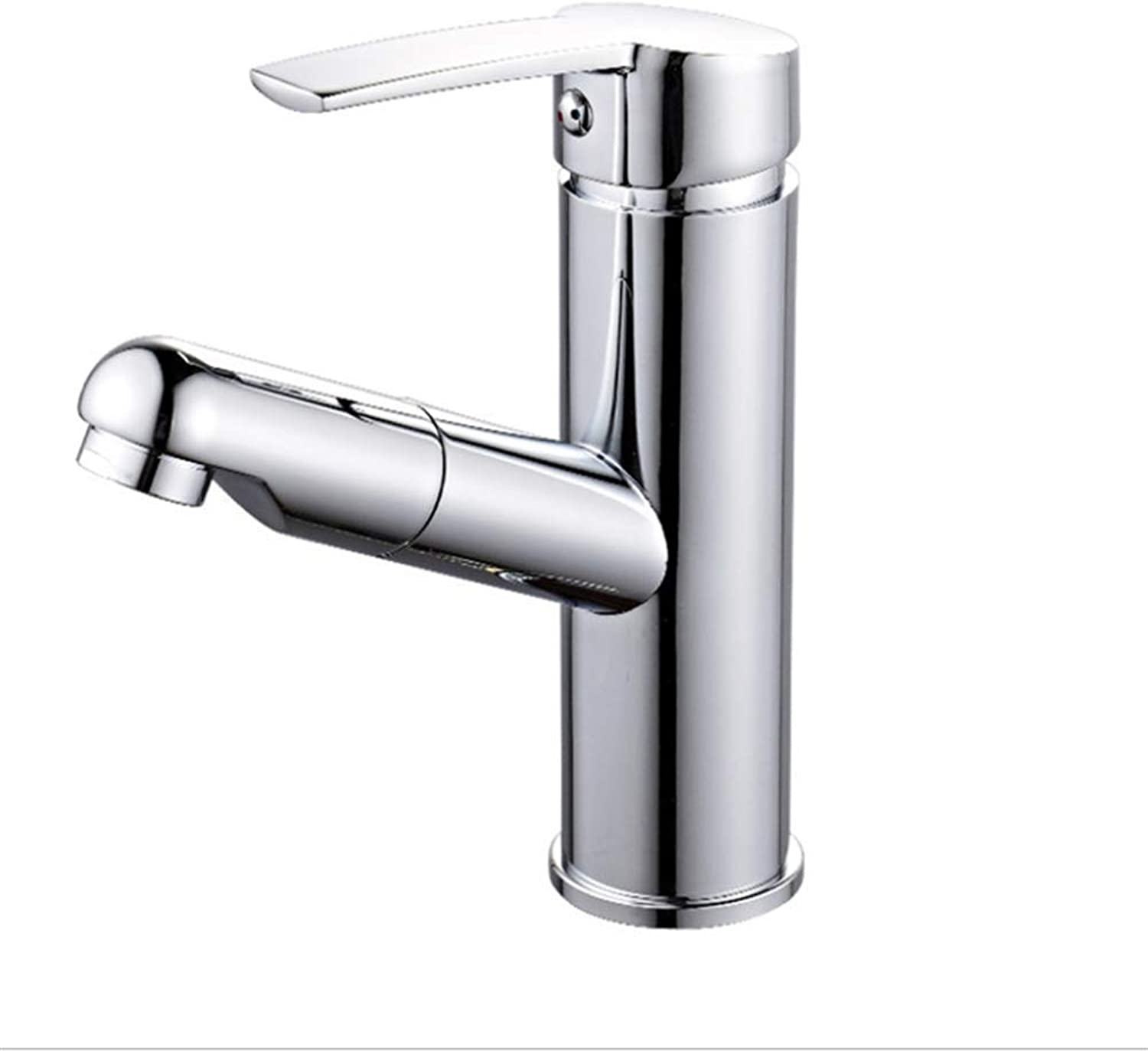 Basin Faucetcopper Drawing Pot Faucet Single Hole Drawing Shampoo Cold and Hot Faucet