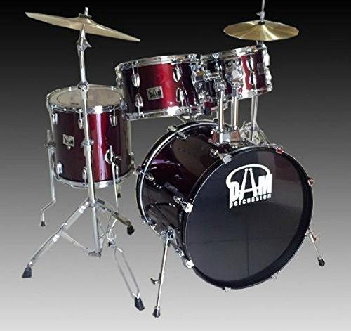 Set Batteria Acustica con pelli idrauliche completa di piatti e sgabello DAM Percussion