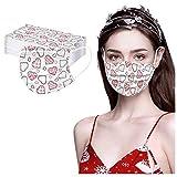 Sonnena 50PCS Adultos Que Tapasn Las Impresas del día de San Valentín Transpirables Protector Protector Seguro Cubre Turbante