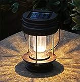 ソーラー ランタン 庭園灯 LEDランタン ガーデンライト 防水 夜間自動点灯 雰囲気作り ランタンライト ペンダントライト おしゃれ 玄関先 車道 歩道 庭 ガーデン 屋外飾り オーナメント(1個セット 暖色)
