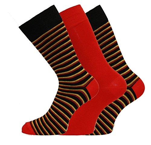 Socks Uwear - Chaussettes basses - Imprimé Aztèque - Homme - Rouge - Large