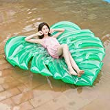 ASDFG Flotador de natación de Hoja Inflable Flotador de Piscina Tropical Lay-On Anillo de natación Adultos Fiesta de Agua Juguetes 180 * 160 cm