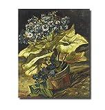 EUpMB Cuadro en Lienzo Macetero Van Gogh 《con Aster》 48x60cm Material Tejido no Tejido Impresión Artística Imagen Gráfica Decoracion