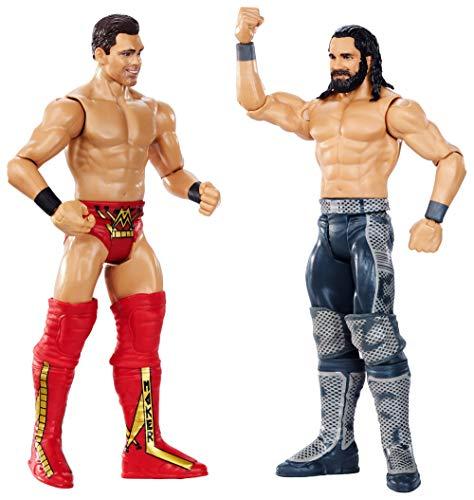 WWE Wrestlemania Pack de 2 Figuras de Acción Luchadores Seth Rollins vs. The Miz, Juguetes Niños 8 Años (Mattel GDC05)