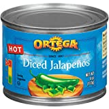 Ortega Peppers, Diced Jalapenos, Hot, 4 Ounce (Pack of 24)