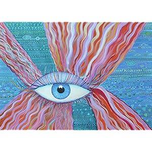 Waves Eye.Original Gemälde.Painting.Picture.Acryl Gemälde.Original handgemalte Leinwand.Originalgemälde.50x70cm.