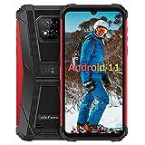 6Go+128Go Android 11 Smartphone Incassable, Octa-Core Ulefone Armor 8 Pro Écran 6,1 Pouces IP68 / IP69K étanche Antichoc, 4G Double SIM OTG/NFC/GPS Telephone Portable Incassable Debloque -Rouge