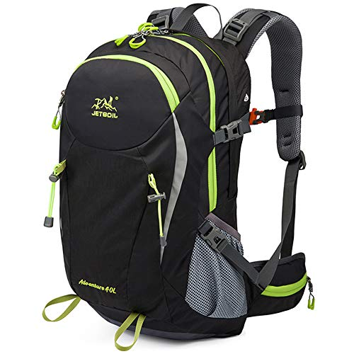 40L Ultra Lightweight Hiking Backpack, Chickwin Foldable Multi-functional Casual Rucksack Travel Daypack Bag for Men Women Outdoor Sport Camping Mountaineering Walking Climbing (49 * 18 * 30cm,black)