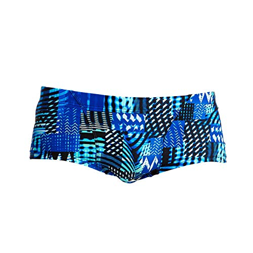 Funky Trunks Herren Classic Trunks Electric Nights Badehose (M)