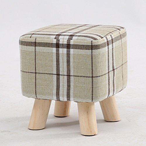 Salon tabouret de canapé bois massif tabouret de la famille petit tabouret 27 * 27 * 28cm (Color : Clear)