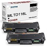 SMARTOMI 2er-Pack MLT-D116L Schwarze Toner Kompatible mit Samsung MLTD116L D116S zur mit Samsung-Druckern Xpress SL-M2675FN M2835DW M2885FW M2625 M2625D M2825FD M2825DW M2875FD M2675 M2626 M2676