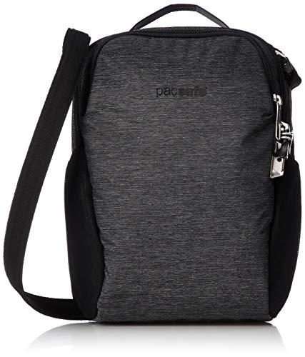 Pacsafe Vibe 200 Unisex-Erwachsene Anti-Theft Compact Travel Bag, Diebstahlschutz Umhängetasche, Grau Meliert / Granite Melange