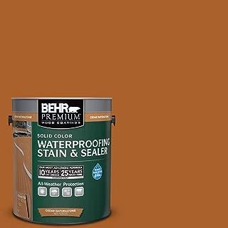 BEHR Premium 1-Gal. Cedar Naturaltone Weatherproofing Solid Color Wood Stain