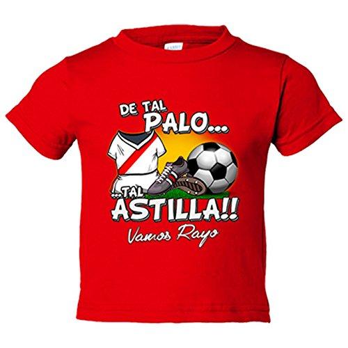 Camiseta niño De tal palo tal astilla Rayo Vallecano fútbol - Rojo, 3-4 años
