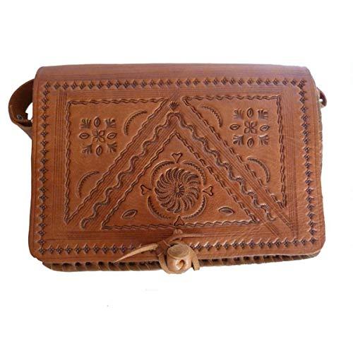 Ledertasche Handtasche Umhängetasche Schultertasche Aktentasche Tragetasche Leder Tasche Klassik Farbe Hellbraun