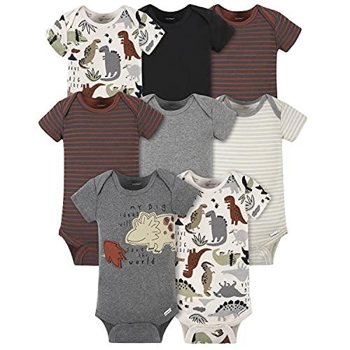 Gerber Baby 8-Pack Short Sleeve Onesies Bodysuits,...