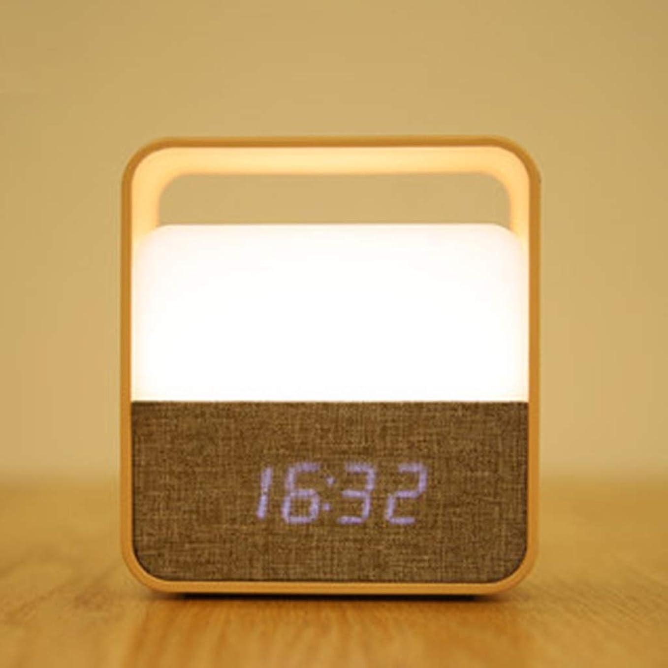 ブローホール荒涼とした第四ナイトライト 時計アラームライトポータブルチャイルドスリープライトベイビーフィードライトLEDナイトライトベッドルームベッドサイドテーブルランプ QDDSP