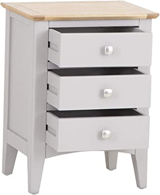WHITE PAINTED OPEN BEDSIDE CABINET 1 DRAWER 40cm x 33cm x56cm  FREE DELIVERY