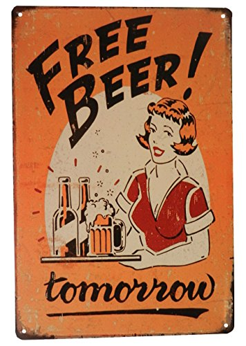 Strosportsandtech Beer Alcohol Free Drinks Funny Tin Sign Bar Pub Diner Cafe Wall Decor Home Decor Art Poster Retro Vintage