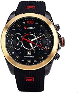 Watch for Men by CURREN, Rubber Band, Quartz - 8166GB