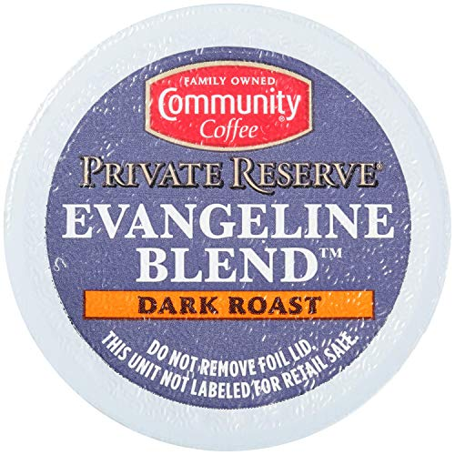 Community Coffee Private Reserve Evangeline Blend 10 Count Coffee Pods, Dark Roast, Compatible with Keurig 2.0 K-Cup Brewers, 10 Count (Pack of 1)